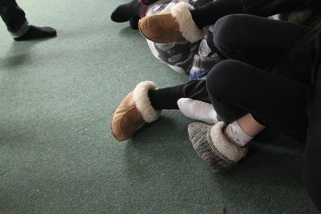 bačkory na nohách