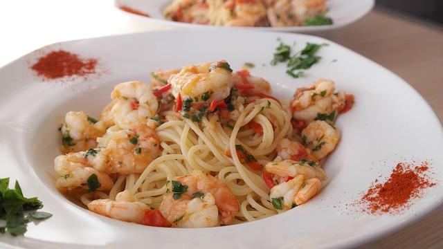 špagety s krevetami